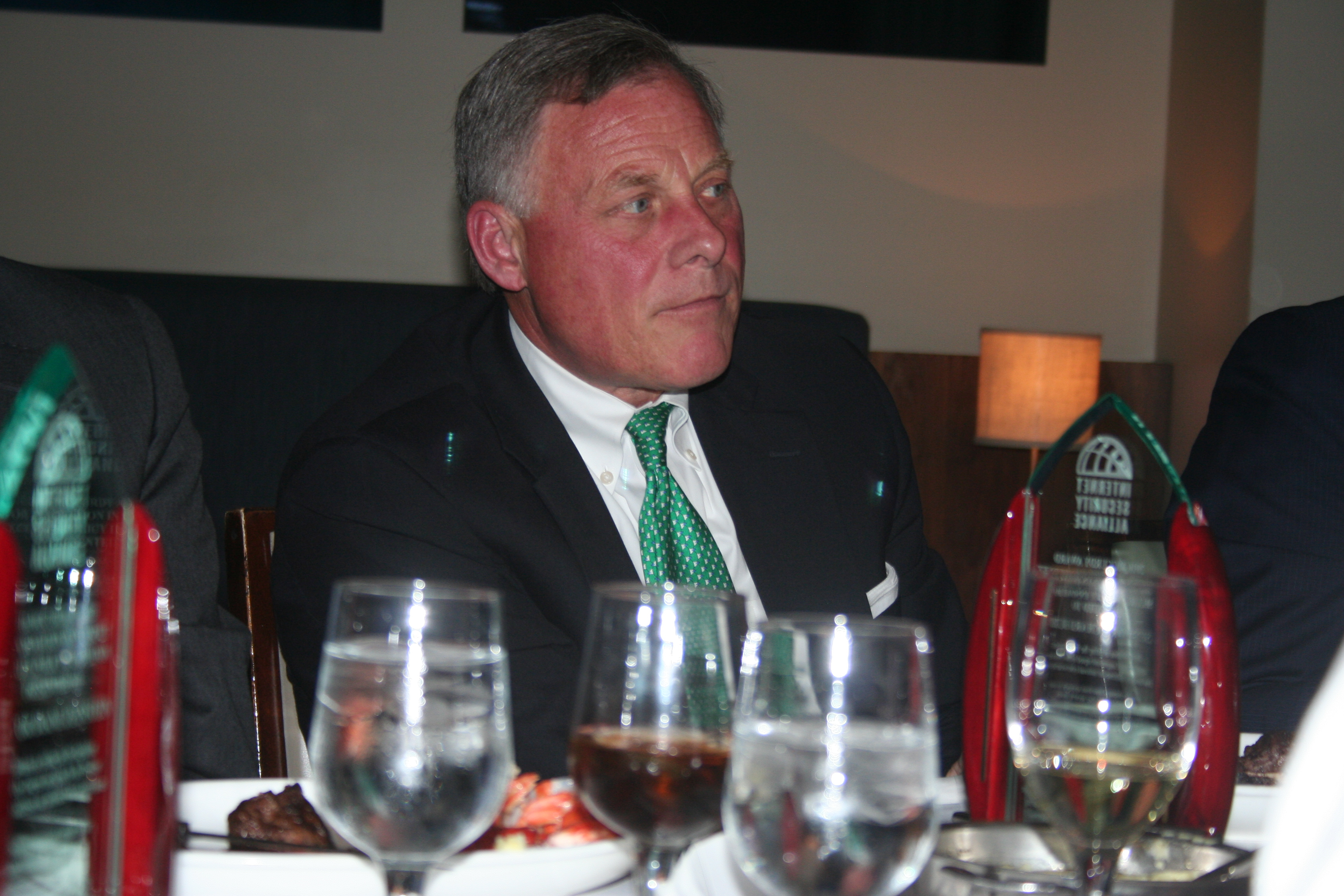 Sen. Richard Burr, chairman of the Senate Intelligence Committee, during the spring 2016 Salon Dinner.