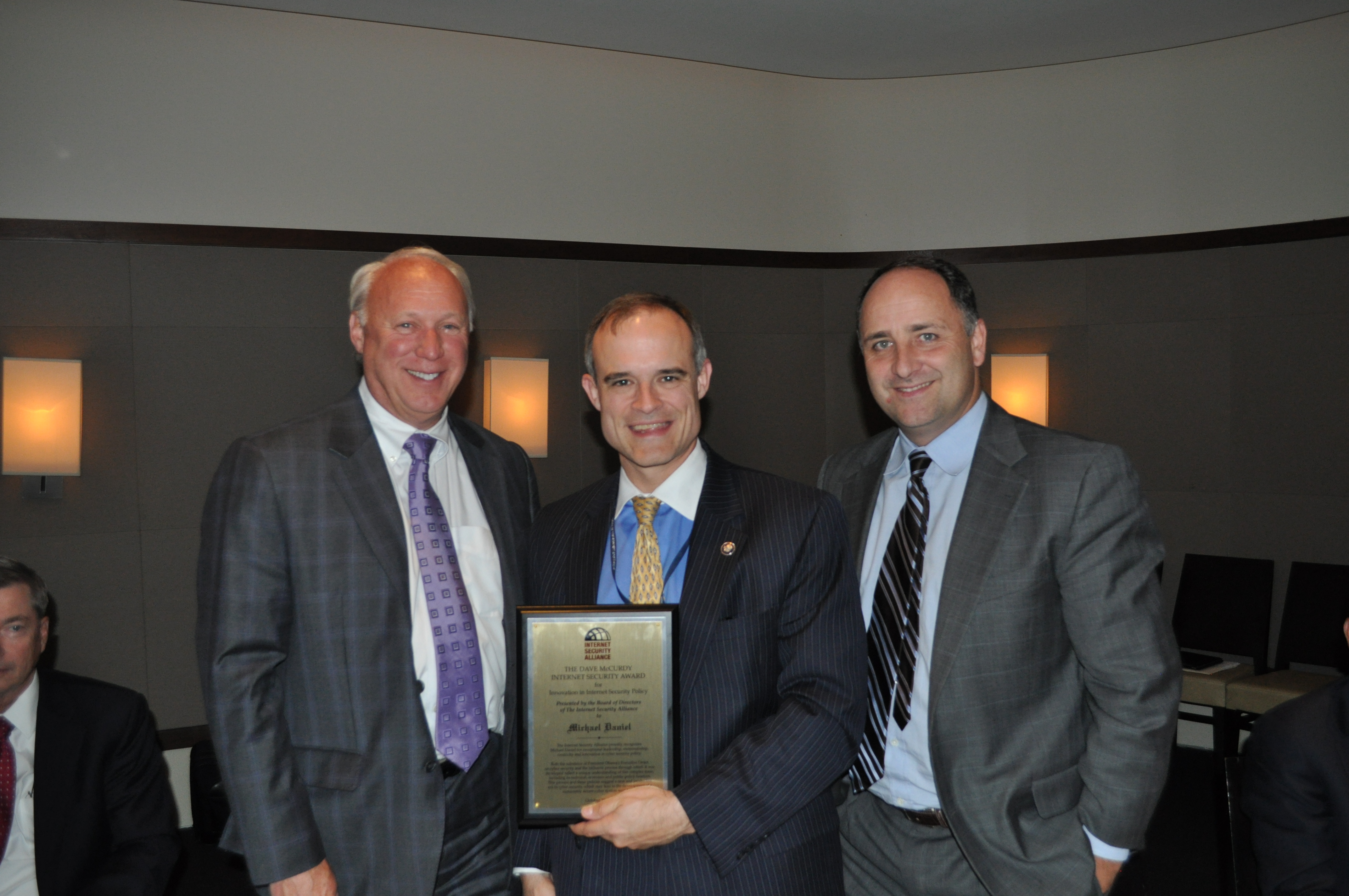 White House Cybersecurity Coordinator Michael Daniel receives the McCurdy Award in 2013