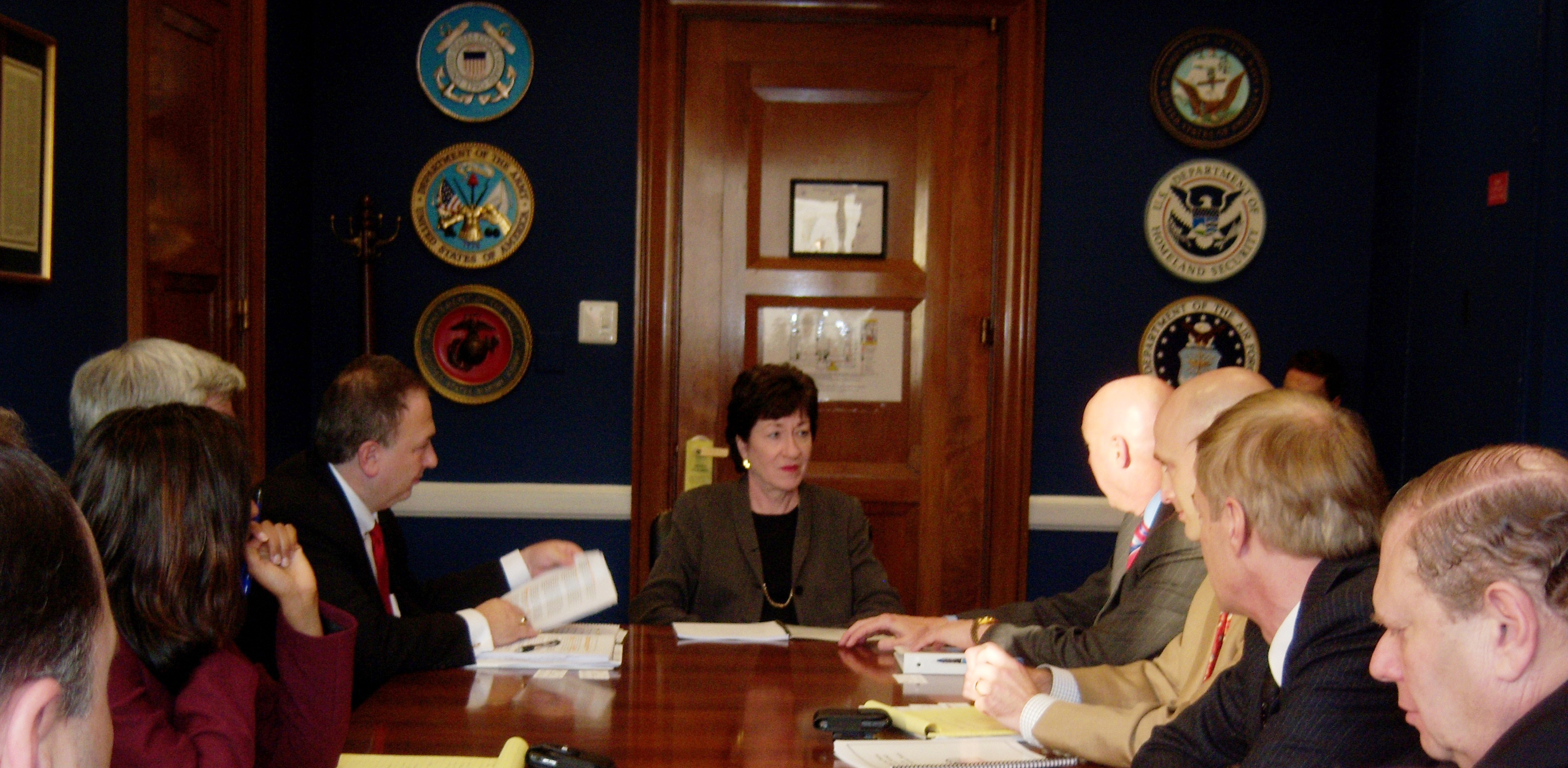 The ISA board briefs Sen. Susan Collins (R-Maine) in 2012.