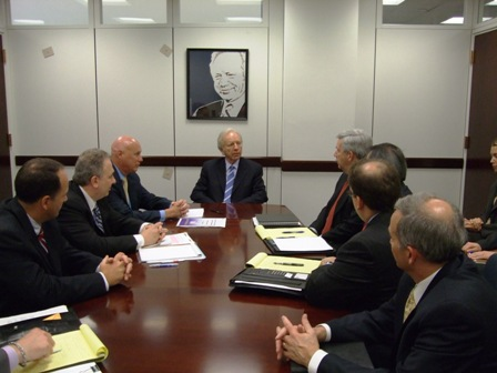 The ISA board briefs Sen. Joe Lieberman (I-Conn) in 2012.
